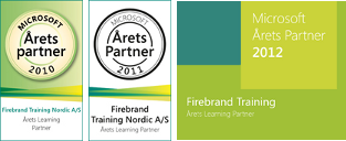 Microsoft Learning Partner of the Year  2010 2011 2012 - Firebrand Training